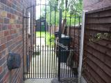 Ref: GT024 Steel Gate with side panel Fencing Bury Lancashire