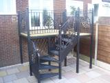 Ref:  BA003 Completed Wrought Iron Balcony Project in Manchester