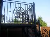 Ref: BA008 Steel Balcony Side View