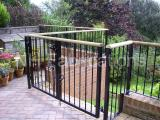 Ref: RA021 Patio Railings with Wooden Handrail can be stained to customers' requirements
