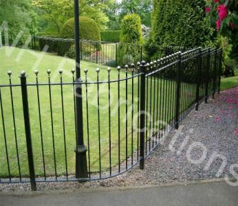 Ref: RA002 Wrought Iron Perimeter Fencing, Railings Ashton Under Lyne, Lancashire