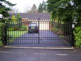 Ref: GT001 Wrought Iron Swinging Gates Fully Automated with Intercom System in Rochdale