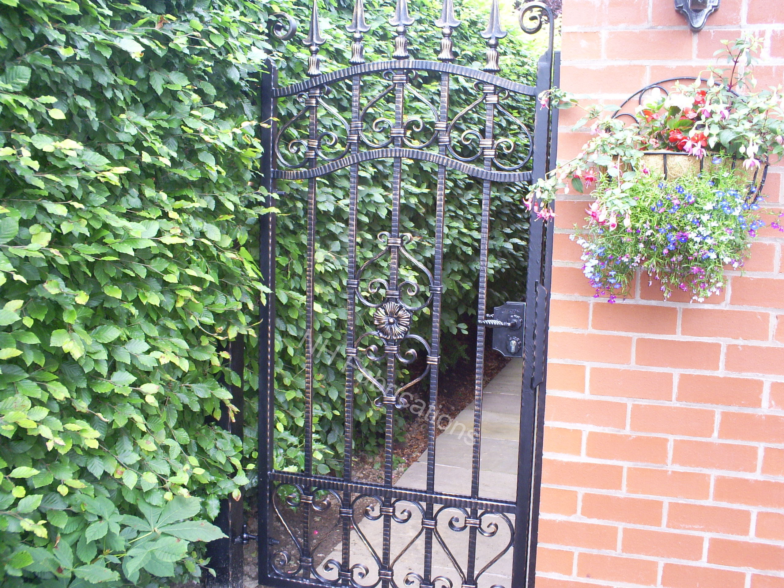 Iron garden gate - Specialists In Automated Gates Balconies Wrought Iron Gates And